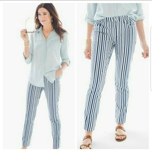 NWT Chico's So Slimming girlfriend striped ankle